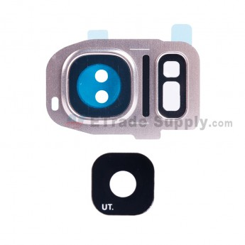 For Samsung Galaxy S7 G930/G930F/G930A/G930V/G930P/G930T/G930R4/G930W8 Rear Facing Camera Lens and Bezel Replacement - Gold - Grade S+ (1)