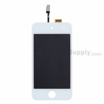 For Apple iPod Touch 4th Generation LCD Screen and Digitizer Assembly Replacement - White - Grade R