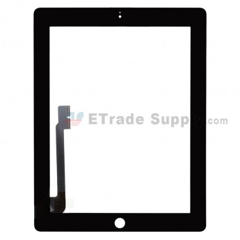 For Apple iPad 4 Digitizer Touch Screen Replacement - Black - Grade R