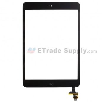 For Apple iPad Mini 2 Digitizer Touch Screen Assembly with IC Board Replacement - Black - Grade R