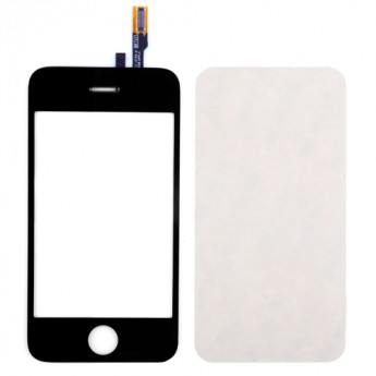 For Apple iPhone 3GS Digitizer Touch Screen & Glass Lens with Adhesive  Replacement - Grade S+