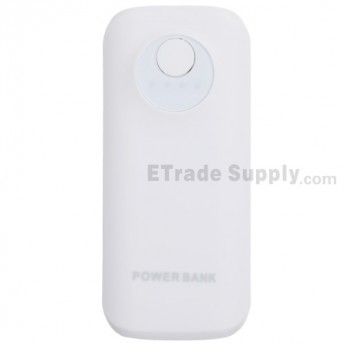 For Apple iPhone 4S Mini Portable Power Bank (5000 mAh) - White - Grade R
