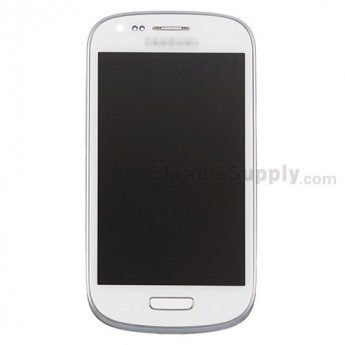 For Samsung Galaxy S III Mini I8190 LCD Screen and Digitizer Assembly with Front Housing Replacement - White - Grade S+