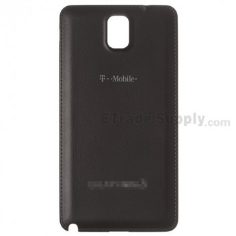For Samsung Galaxy Note 3 SM-N900T Battery Door  Replacement - Black - With T-Mobile and Galaxy Note 3 Logo - Grade S+