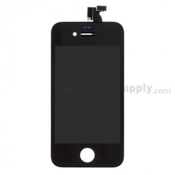 For Apple iPhone 4 LCD and Digitizer Assembly with Frame Replacement (AT&T) - Black - Grade S+