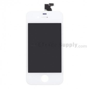 Replacement Part for Apple iPhone 4 LCD Screen and Digitizer Assembly with Frame (Verizon Wireless) - White - A Grade
