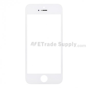 For Apple iPhone 5 Glass Lens with Frame Replacement - White - Grade S+