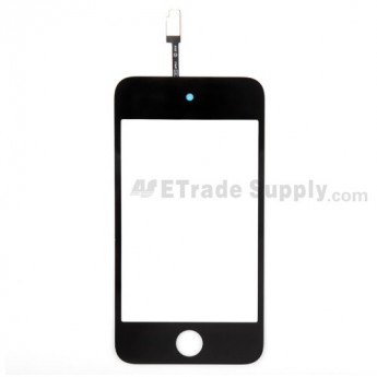 For Apple iPod Touch 4th Generation Digitizer Touch Screen Replacement - Black - Grade S+
