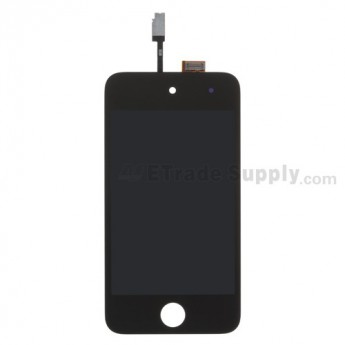 For Apple iPod Touch 4th Generation LCD Screen and Digitizer Assembly  Replacement  (Black) - Grade S+