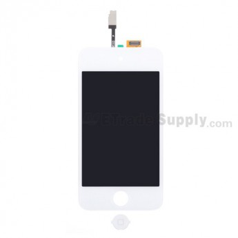 For Apple iPod Touch 4th Generation LCD Screen and Digitizer Assembly with Home Button Replacement - White - Grade S+