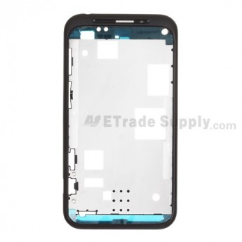 For HTC Droid Incredible 2 Front Housing (Verizon Wireless) ,White, Black Mesh Cover Replacement - Grade S+