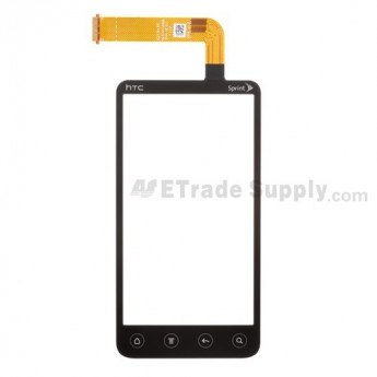 For HTC EVO 3D Digitizer Touch Screen without Adhesive  Replacement (Sprint) - Grade S+
