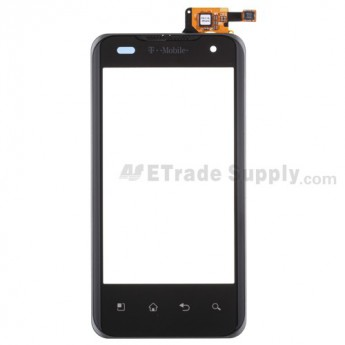 For LG G2x P999 Digitizer Touch Screen with Front Housing Replacement ,With T-mobile Logo - Grade S+