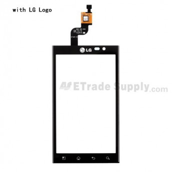 For LG Optimus 3D P920, Thrill P925 Digitizer Touch Screen without Adhesive  Replacement ,Black, With LG Logo - Grade S+