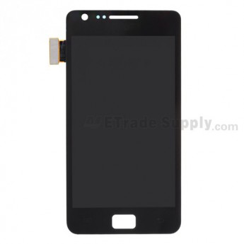 For Samsung Galaxy S II i9100 LCD Screen and Digitizer Assembly With Glass Lens  Replacement - Black, Without Any Logo - Grade S+