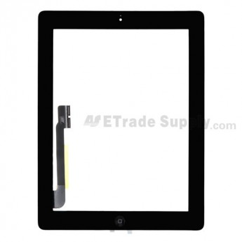 For Apple iPad 4 Digitizer Touch Screen Assembly Replacement (Wifi Plus 3G Version) - Black - Grade R