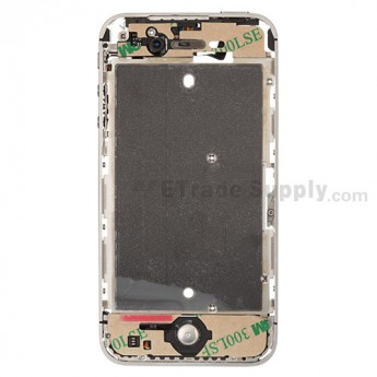 For Apple iPhone 4S Middle Plate Assembly Replacement - White - Grade S+