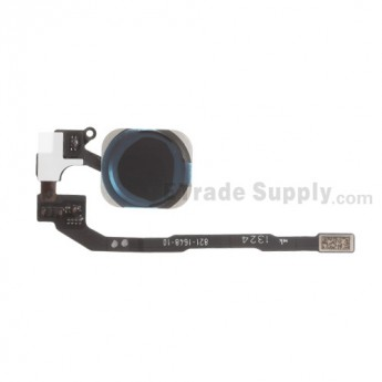 For Apple iPhone 5S/SE Home Button Assembly with Flex Cable Ribbon Replacement - Black - Grade S+