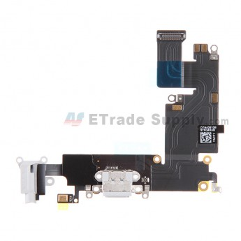 For Apple iPhone 6 Plus Charging Port Flex Cable Ribbon Replacement - White - Grade S+