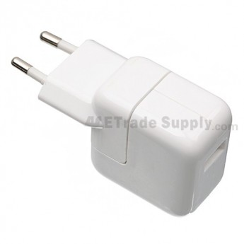 For Apple iPod Touch Series, iPhone Series, iPad Series Charger (Eur Plug, 10W) - White - Grade S+