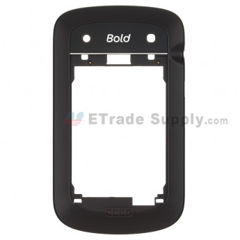 For BlackBerry Bold Touch 9900 Rear Housing  Replacement ,Black - Grade S+