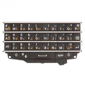 For BlackBerry Q10 QWERTY Keypad Replacement (Arabic) ,Black - Grade S+