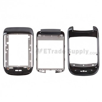 For BlackBerry Style 9670 ABC Side Housing  Replacement ,Black - Grade S+