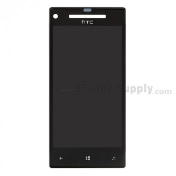 For HTC 8X LCD Screen and Digitizer Assembly with Light Guide  Replacement ,With HTC Logo - Grade S+