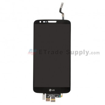 For LG G2 D800/D801/D803/LS980 LCD Screen and Digitizer Assembly Replacement - Black - With LG Logo - Grade S+