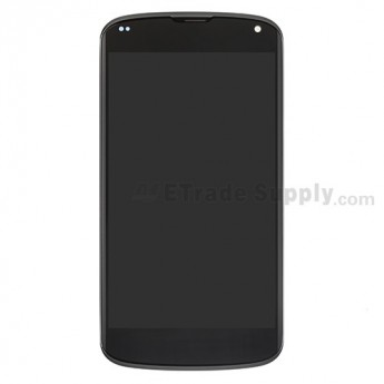For LG Nexus 4 E960 LCD Screen and Digitizer Assembly with Front Housing  Replacement - Grade S+
