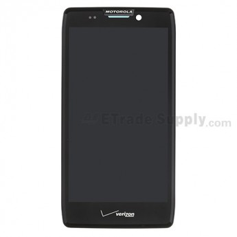 For Motorola Droid Razr HD XT925 LCD Screen and Digitizer Assembly with Front Housing - Black - Grade S+