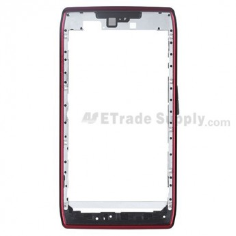 For Motorola Droid Razr XT912, XT910 Front Housing  Replacement - Red - Grade S+