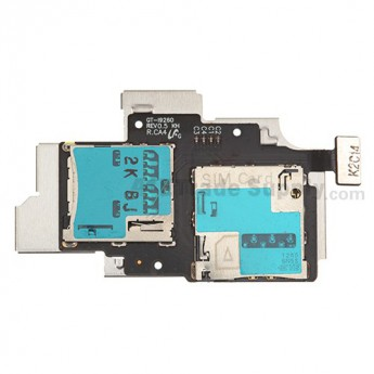 For Samsung Galaxy Premier GT-I9260 SIM Card and SD Card Reader Contact  Replacement - Grade S+