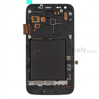 Replacement Part for Samsung Galaxy S II Skyrocket SGH-I727 LCD Screen and Digitizer Assembly with Front Housing - Black - A Grade