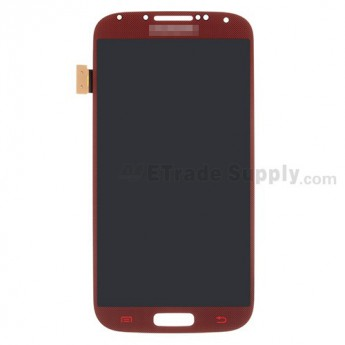 For Samsung Galaxy S4 GT-I9500/I9505/I545/L720/R970/I337/M919/I9502 LCD Screen and Digitizer Assembly Replacement - Dark Red - With Logo - Grade S+