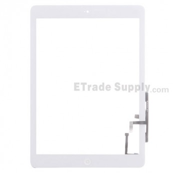 For Apple iPad Air Digitizer Touch Screen Assembly Replacement (Wifi Version) - White - Grade S
