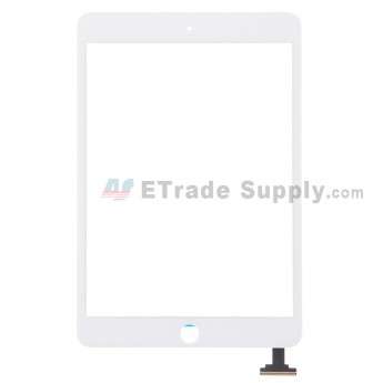 For Apple iPad Mini 3 Digitizer Touch Screen Replacement - White - Grade S