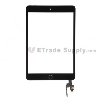 For Apple iPad Mini 3 Digitizer Touch Screen Assembly with IC Board Replacement - Black - Grade R