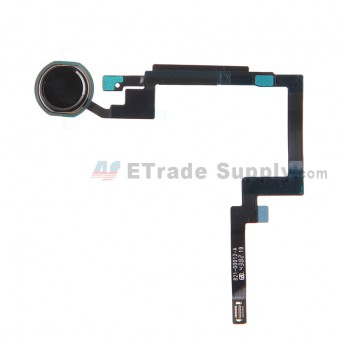 For Apple iPad Mini 3 Home Button Assembly Replacement  - Black - Grade S+