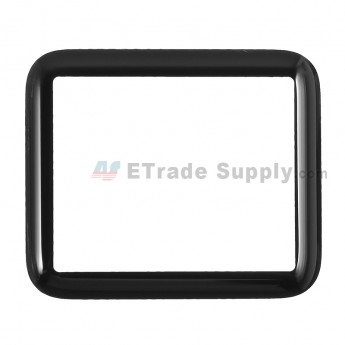 For Apple Watch Sport Glass Lens Replacement - Black - 42mm - Grade S+