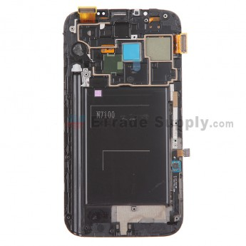 Replacement Part for Samsung Galaxy Note II N7100 LCD Screen and Digitizer Assembly with Front Housing - White - A Grade