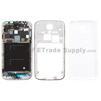 For Samsung Galaxy S4 GT-I9505 Housing  Replacement - White - With Samsung Logo Only - Grade S+