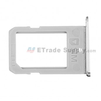 For Samsung Galaxy S6 Edge SM-G925V/G925P/G925R4/G925T/G925W8/G925I/G925F/G925A SIM Card Tray Replacement - White - Grade S+