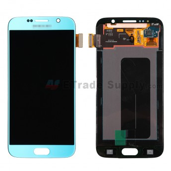 For Samsung Galaxy S6 Samsung-G920/G920A/G920P/G920R4/G920T/G920F/G920V LCD Screen and Digitizer Assembly Replacement - Blue - Grade S+