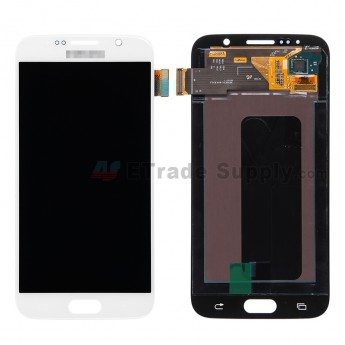 For Samsung Galaxy S6 Samsung-G920/G920A/G920P/G920R4/G920T/G920F/G920V LCD Screen and Digitizer Assembly Replacement - White - Grade S