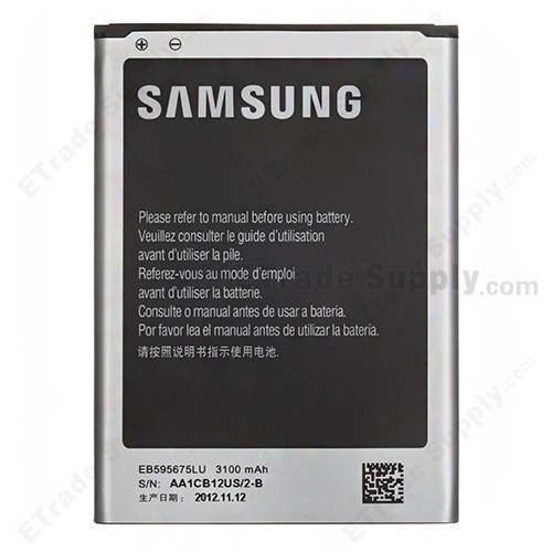 The Back Part of Samsung Galaxy Note 2 N7100 battery