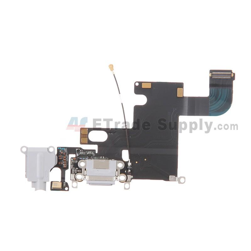 Apple iphone 6 charging port flex cable ribbon light gray etrade supply