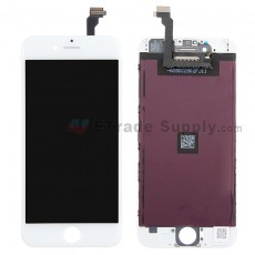 For Apple iPhone 6 LCD Screen and Digitizer Assembly with Frame Replacement - White - Grade S