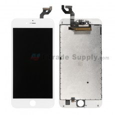 For Apple iPhone 6S Plus LCD Screen and Digitizer Assembly with Frame Replacement - White - Grade R