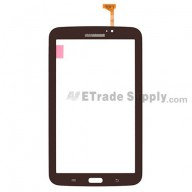For Samsung Galaxy Tab 3 7.0 SM-T210 Digitizer Touch Screen Replacement - Brown - With Samsung Logo - Grade S+